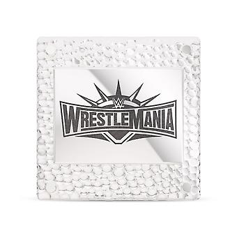 WWE WrestleMania 35 Square Pin In Sterling Silver