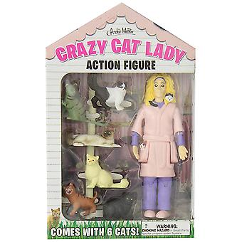 Action Figure - Archie McPhee - Crazy Cat Lady New 12470