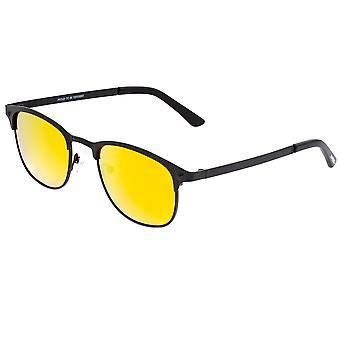 Cucciolata da quattro uomini con gli occhiali da sole Polarized Phase Titanium - Nero/Arancione-Giallo