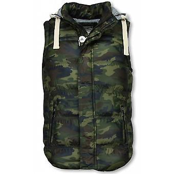 Men's Bodywarmer-Camouflage Vest Hood