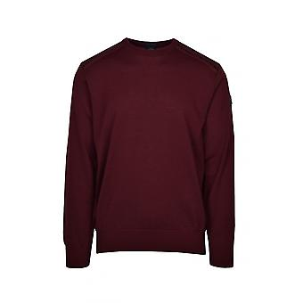 Paul & Shark Paul And Shark Crew Neck Jumper Burgundy
