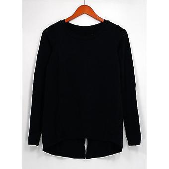 Anybody Petite Top XXSP Loungewear Cozy Knit Novelty Black A298207