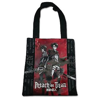Tote Bag - Attack on Titan - New Eren & Levi Standing Anime Licensed ge11889