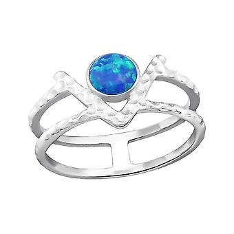 Double Line - 925 Sterling Silver Jewelled Rings - W32350X