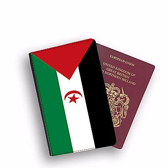 WESTERN SAHARA Flag Passport Holder Style Case Cover Protective Wallet Flags design