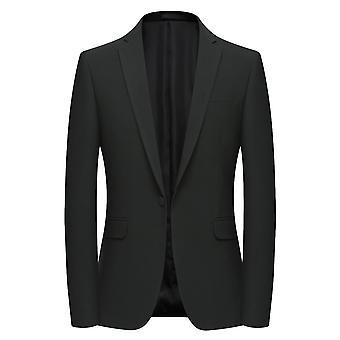 Allthemen Men ' s Slim Fit tömör vékony őszi & tavaszi öltöny Jacket
