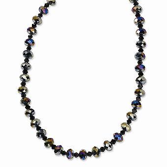 Schwarze Plating Fancy Hummer Verschluss schwarz plattiert Aurora Borealis schwarz Kristall 16 mit ext Halskette Schmuck Geschenke für Wo