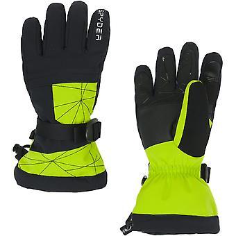 Spyder OVERWEB Gore-Tex Jungen Ski Handschuhe lime