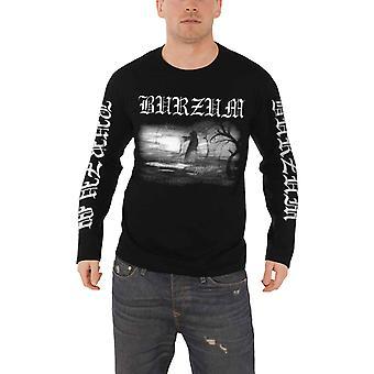 Burzum T Shirt Aske 2013 band logo new Official Mens Black Long Sleeve