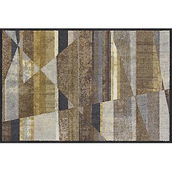 Salonloewe deurmat schuine strepen glamour 50 x 75 cm wasbaar vuil mat