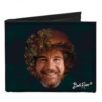 Portefeuille Bob Ross Canvas Bi-Fold
