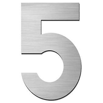 Serafini house number 5 stainless steel V4A for punching height 15 cm