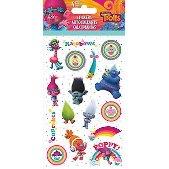 Standard Stickers 4 sheet - Trolls - Stationery New st2592