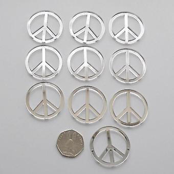Simbolo di pace Mini Craft dimensioni specchi acrilici (10Pk)