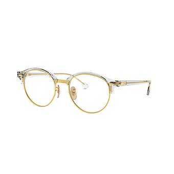 Ray-Ban Clubround RB4246V 5762 Transparent-Gold Glasses