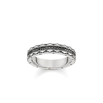 Thomas Sabo Sterling Silver Thomas Sabo Hieroglyphic Ornamentation Ring TR2106-643-11