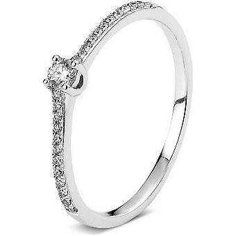 Diamond Ring Ring - 14K 585 White Gold - 0.16 ct.