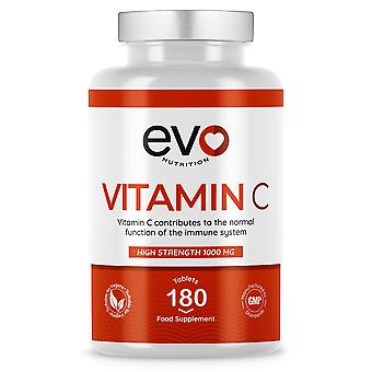 Vitamin C (180 Tablets) 1000mg Maximum Strength - Evo Nutrition
