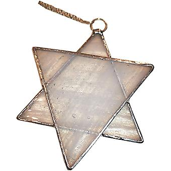 Simmerdim Design Stained Glass Star Window Hanger Grey