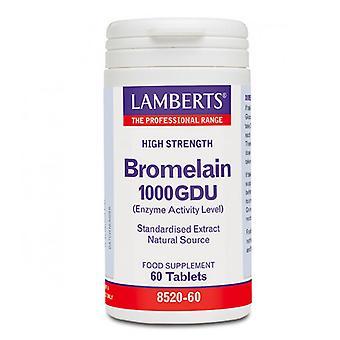 Lamberts bromelain 1000GDU tabletter 60 (8520-60)