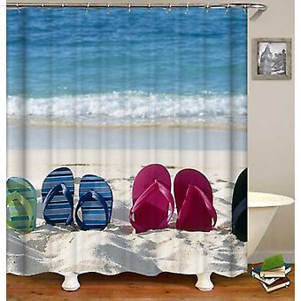 Flip Flop Beach Shower Curtain