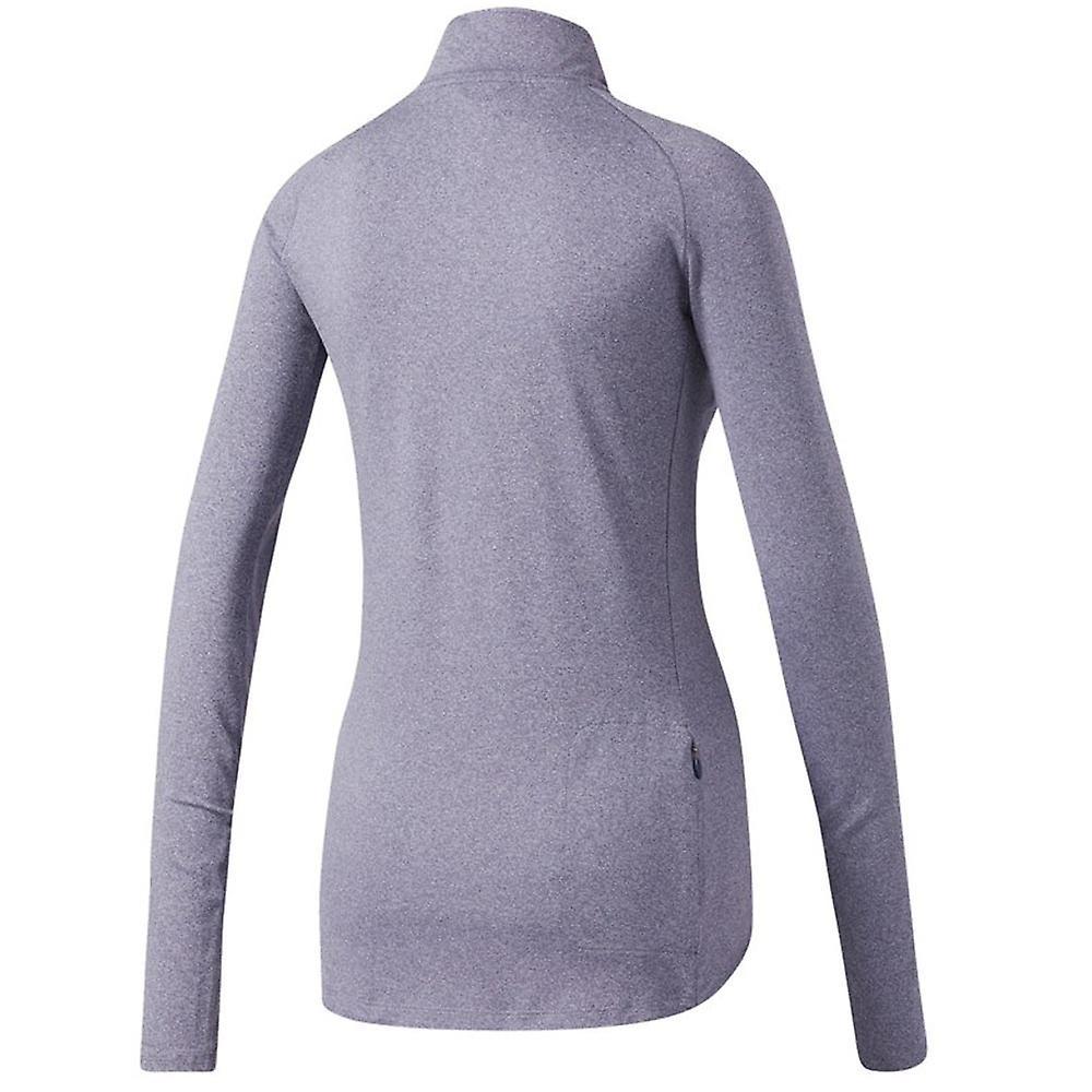 Adidas Supernova Womens damer kör 12 zip långärmad skjorta lila