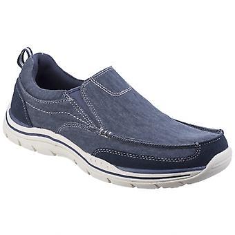 Skechers المتوقع Tomen Mens قماش زلة على الأحذية البحرية