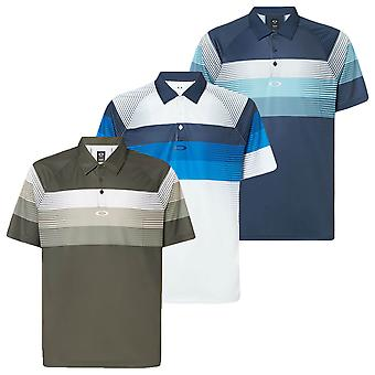 Oakley Mens Color Block Graphic Respirável Golf Polo Shirt