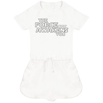 The Force That Awakens You - Baby Playsuit