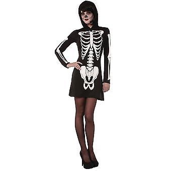 Skeleton Mini Dress (Hooded)