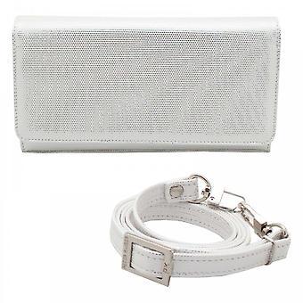 Peter Kaiser Lanelle Box Stil weiße Clutch Handtasche