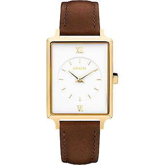 Watch Amalys GRACE - watch Leather Brown woman