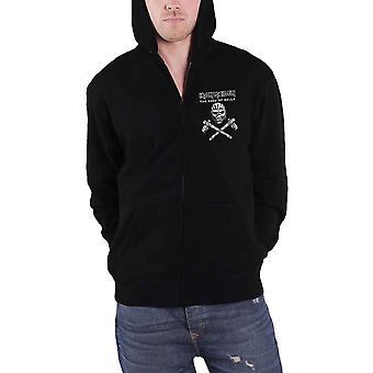 Iron Maiden Hoodie Book of Souls Axe Eddie Logo Official Mens New Black Zipped