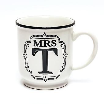 History & Heraldry Alphabet Mug - Mrs T