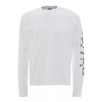 केंज़ो स्पोर्ट पेरिस व्हाइट लॉन्ग स्लीव टी-शर्ट