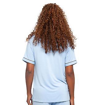 Cyberjammies 4408 Women's Olivia Blue Modal Knit Pyjama Top