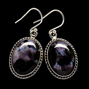 "Gabbro Earrings 1 1/2"" (925 Sterling Silver)  - Handmade Boho Vintage Jewelry EARR396428"