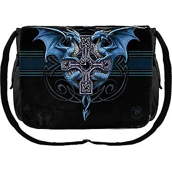Nemesis Now Dragon Duo Anne Stokes bag messenger 33 cm black PU and canvas one size