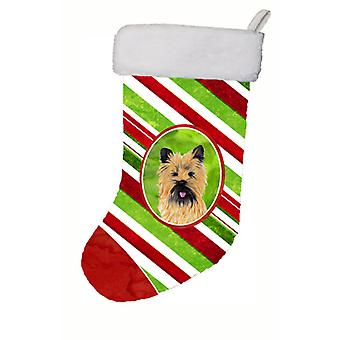 Cairn Terrier Candy Cane Holiday Christmas  Christmas Stocking SC9335