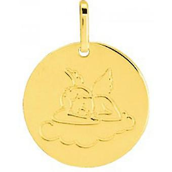 M daille angel Gold 375/1000 yellow (9K)
