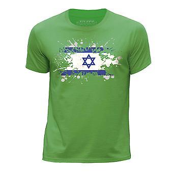 STUFF4 Boy's ronde hals T-T-shirt/Israël/Israëlische vlag Splat/groen