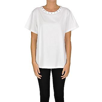 Alberta Ferretti Ezgl095037 Kvinder's Hvid Bomuld T-shirt