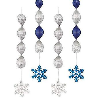 Hanging Snowflake Foil Decoration
