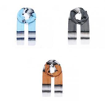 Intriga Womens/senhoras cor bloco Stripe lenço de impressão
