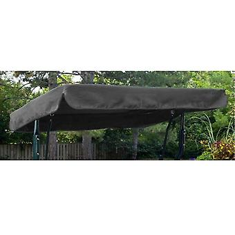 Grey Water Resistant 3 Seater Replacement Canopy for Garden Hammock Swing Seat