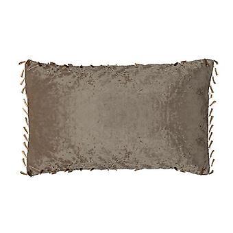 Changing Sofas Chocolate Rectangular Crushed Velvet Scatter Cushion