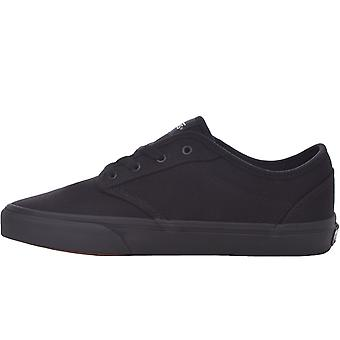 Vans Juniors Kids Atwood Casual Low Top Canvas Trainers Sneakers Shoes - Black