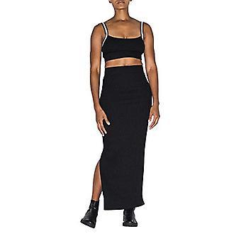American Apparel Women's Thick Rib Maxi Skirt, Black,, Black, Size X-Small