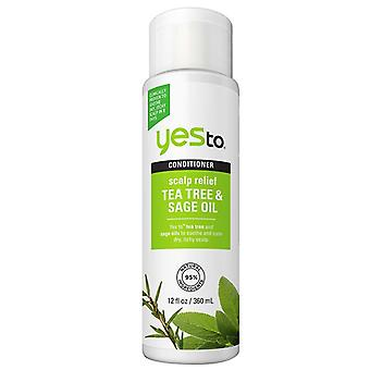 Yes to naturals conditioner, scalp relief, tea tree & sage oil, 12 oz