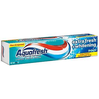 Aquafresh extra fresh + whitening toothpaste, fresh mint, 5.6 oz